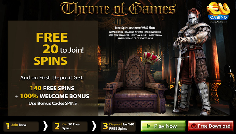 Throne of Games Freebies at EU Casino