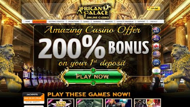 Big Bonuses For New Players At African Palace Casino