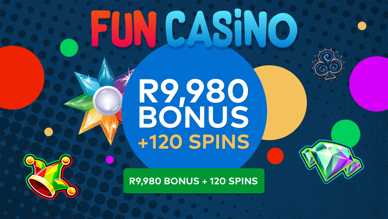 A Rainbow of Fun & Games with 120 Free Spins at Fun Casino