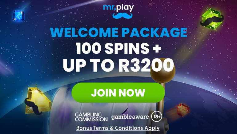 Mr.Play Casino's 3200R Welcome Bonus Plus 100 Spins