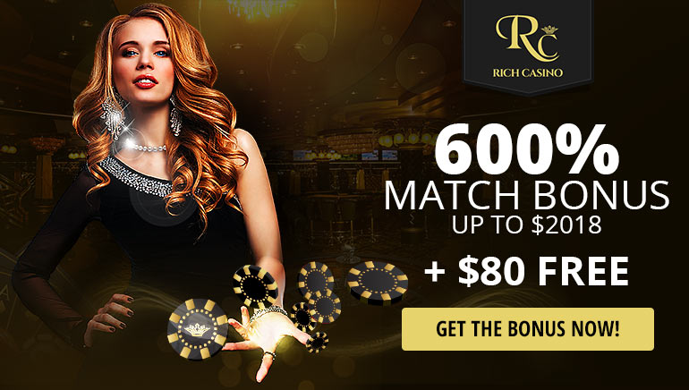 Rich Casino Massive 600% Bonus Returns for 2018!
